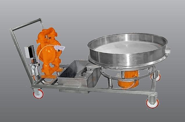 واگن پمپ دیافراگمی و الک ویبره به همراه مگنت۱۲۰۰
